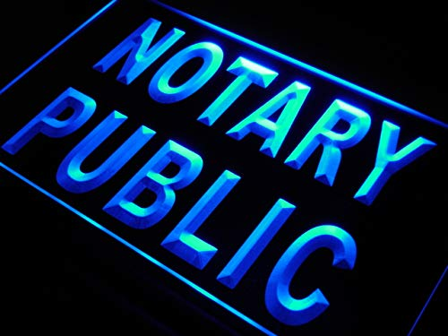 ADVPRO s200-b Notary Public Sevice Office New Neon Light Sign
