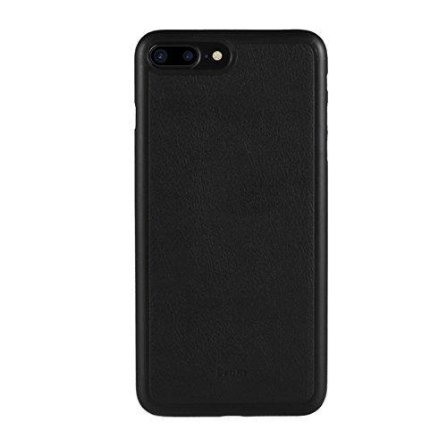 BENKS Magnetic Leather Coated PP Tasche Hüllen Schutzhülle Case für iPhone 7 Plus - schwarz