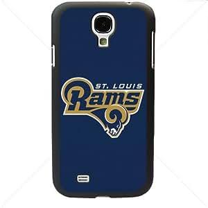 NFL American football St. Louis Rams Fans Samsung Galaxy S4 SIV I9500 TPU Soft Black or White case (Black)