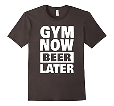Funny Gym Shirts Gym Now Beer Later Workout T-Shirt