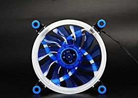 White WINGONEER Computer LED Fans Double-Sided Computer Power Supply Fan Aurora LED Light Chassis Fan Cooler Fans