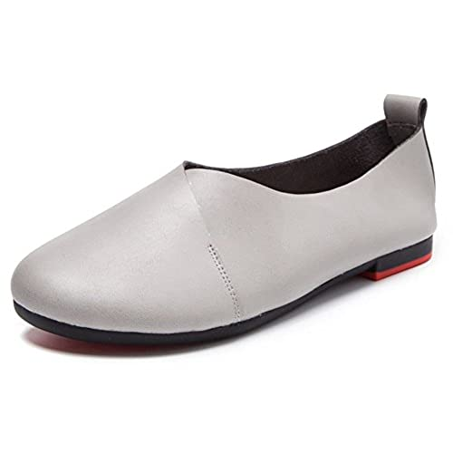 a209e71e2b2 chic Kunsto Women s Genuine Leather Comfort Glove Shoes Ballet Flat(UP TO  55% OFF
