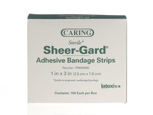 Medline PRM25600 Caring Plastic Adhesive Bandages, 1
