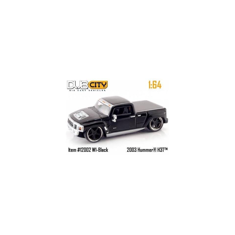 Jada Dub City Kustoms Black Hummer H3T 164 Scale Die Cast Car Truck