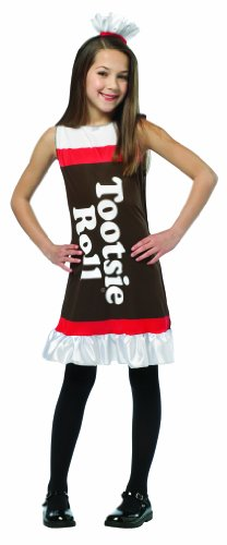 Rasta Imposta Tootsie Roll Ruffle Dress, 7-10 - Tootsie Roll Costume Child