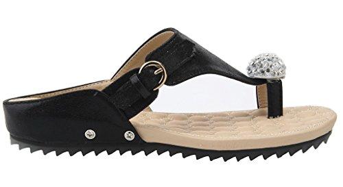 D Flip Sandales Shoes Ageemi Femmes Plat Flops xvI7f