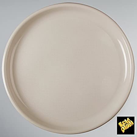Plastic Pizza Plates Round 350 mm CFZ 12pz taupe & Plastic Pizza Plates Round 350 mm CFZ 12pz taupe: Amazon.co.uk ...
