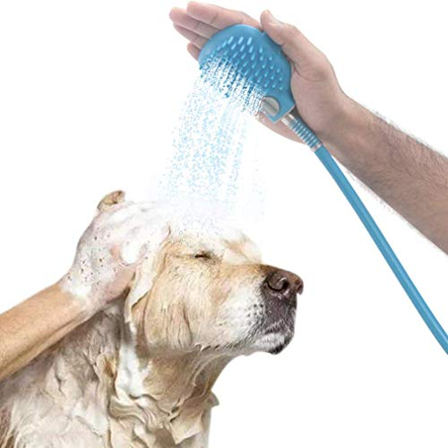 Colawind Pet Dog Shower Sprayer Pet Bathing Scrubber Tool Grooming Glove Shower, 2 Adapters for Indoor Outdoor Using by Colawind
