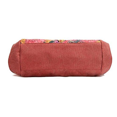 Chang Spent bolso de las mujeres de la manera ocasional gran bolsa de tela bolsa de compras del bolso de hombro , red Red