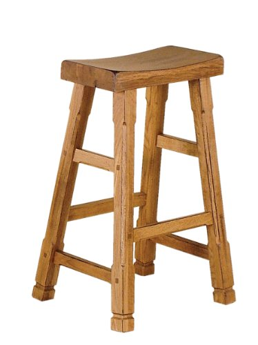 - Sunny Designs 1721RO Saddle Seat Barstool, Rustic Oak Finish