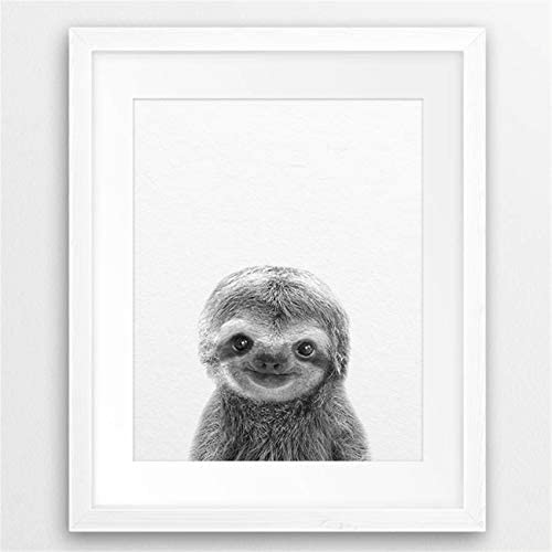 NATVVA Cute Baby Animal Sloth Wall Art Canvas Prints, Sloth Art Canvas Painting Poster for Kids Room Nursery Wall Art Decor