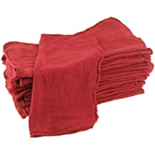 Shop Towels Red-Commercial/Industrial B Grade MHF brand - 1000 piece box - NEW 100% Cotton