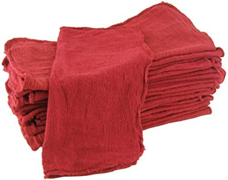 Shop Towels Red-Commercial/Industrial B Grade -100 Piece Box -NEW 100% Cotton**Free Shipping**