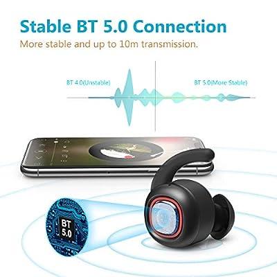 Wireless Earbuds, dodocool BT 5.0 True Wireless Earbuds, 25H Playtime, 3D Stereo Sound Wireless Headphones, IPX6 Waterproof, Noise Canceling Sport Earphones (Auto Pairing)