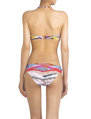 iB-iP Mujer Arco Iris Impresiones Anillo De M De Poca Altura Conjunto De Bikini Arco iris