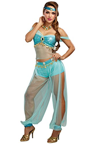 Dreamgirl Women's Harem Princess, Turquoise, M -