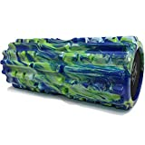 321 STRONG Foam Roller - Extra Firm High Density Deep Tissue Massager with Spinal Channel, for Muscle Massage and Myofascial Trigger Point Release, with 4K eBook