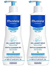 Mustela Gentle Cleansing Gel, Baby Hair and Body Wash, Tear-Free, with Natural Avocado Perseose Fortified with Vitamin B5, Various Sizes