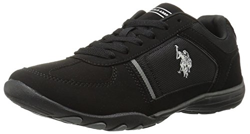U.S. Polo Assn.(Women's) Women's Thrill4 Fashion Sneaker, Black/Grey, 8.5 M US