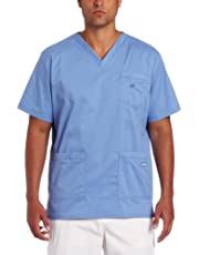 Landau Men's V-Neck Scrub Top