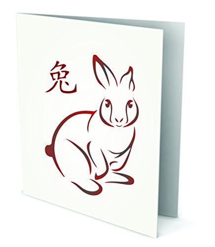rabbit stencil 6 5 x 9 5 inch l reusable chinese rabbit year