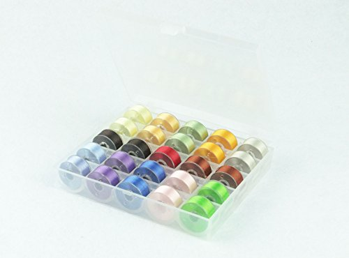 - Simthread Size A Class 15 (SA156) Prewound Bobbins Thread Assorted Colors for Brother Embroidery Sewing Machine 25pcs/Set