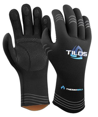 Tilos 3mm Thermowall Super Stretch Scuba Diving Gloves with Pre-Curved Fingers and Grip (LG) (Dive Stretch Glove)