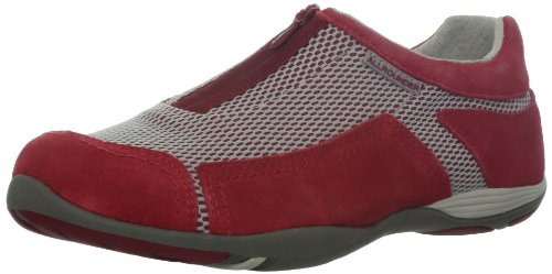 ALLROUNDER by MEPHISTO Womens Sahira Loafer Red Suede/Cool Grey Mesh X2Ikq