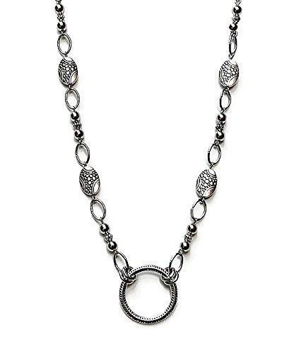Eyeglass Holder Necklace Beaded Travel Glasses Chain Readers Eye Glass Silver tone Bead Pendant Loop