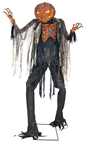 7ft. Scorched Scarecrow Animated NO FOG MACHINE Halloween Decoration]()