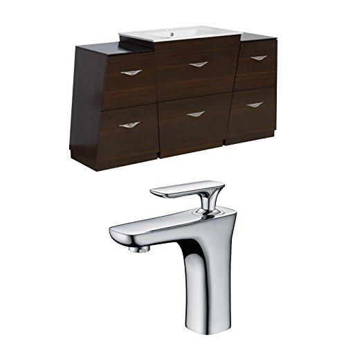 "Jade Bath JB-9319 67"" W x 18.5"" D Plywood-Melamine Vanity Set with Single Hole CUPC Faucet, Wenge chic"