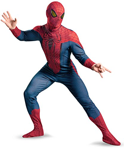 Disguise Marvel The Amazing Spider-Man Movie Deluxe Adult Licensed Costume, Red/Blue/Black, X-Large (42-46) (Adult Amazing Spiderman Costume)