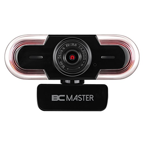 BC Master HD Webcam 1080p, Webcam with Microphone for Video Calling, Streaming and Recording ,usb webcam for Youtube Skype Mac Laptop PC Desktop