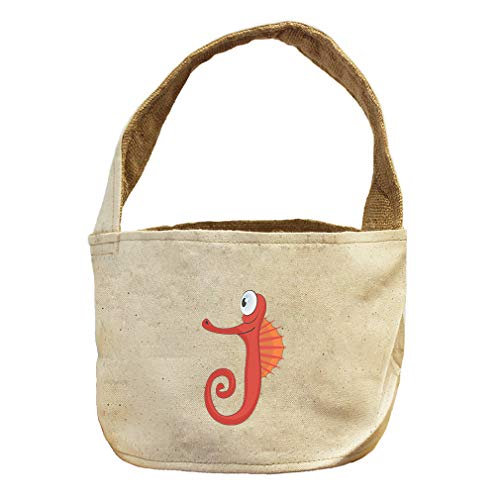 Style in Print Seahorse Funny Animals Canvas and Burlap Storage Basket by Style in Print
