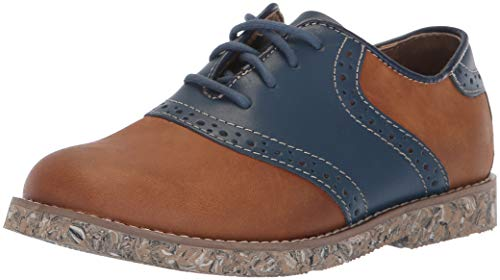Boys Saddle Shoes (Florsheim Kids Boys' Kennett Jr II Oxford, Brown/Navy, 12 Medium Little)