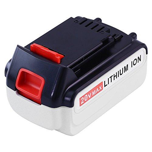 (Replace Black and Decker 20V MAX Lithium Battery 5.0Ah LBX20 LBXR20 LBXR20-OPE LB2X4020-OPE High Capacity SUN POWER )
