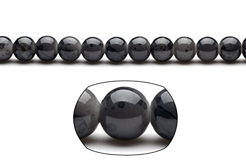 Black marble grain patterned glass beads 10mm round 4x16inch/pack