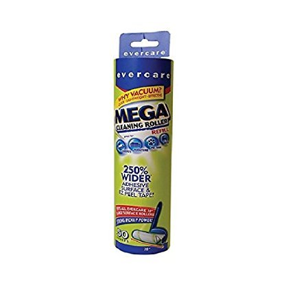 Evercare Mega Cleaning Roller Refill, 50 Sheets 1 ea (Pack of 3)