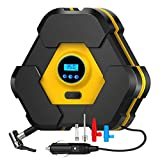NOOX Portable Air Compressor Tire Inflator Electric Digital Tire Pump for Car Truck Bicycles Balls & Inflatable Water Pool Toys with LED Light Emergency Tool for Car Travel 12v DC 150 PSI