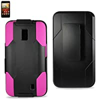 Reiko SLCPC09-LGVS920BKHPK Premium Hybrid Case with Protective Cover and Kickstand for LG Spectrum VS920