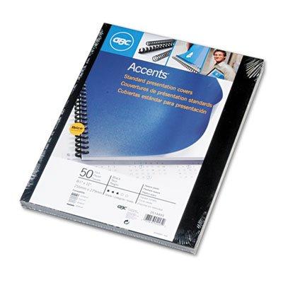 GBC® Opaque Plastic Presentation Binding System Cover, 8 1/2 x 11, Black, 50 per Pack