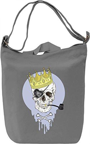 Crowned skull Borsa Giornaliera Canvas Canvas Day Bag| 100% Premium Cotton Canvas| DTG Printing|