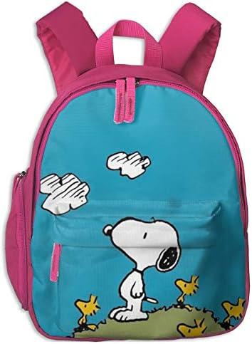 スヌーピーが雲を見ています リュックサック子供用 スクールバッグ 通園 遠足 幼稚園 可愛い キッズ ベビー バックパック 男女兼用