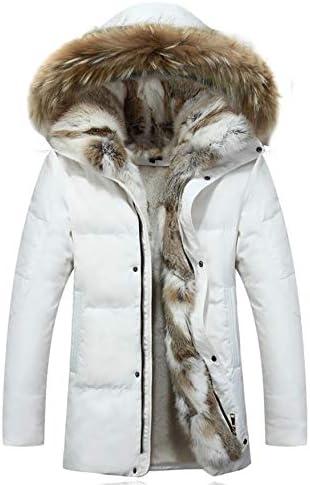 Winter Duck Down Jacket Men Coat Male Warm Clothes Rabbit Fur Collar / Winter Duck Down Jacket Men Coat Male Warm Clothes Rabbit Fur Collar