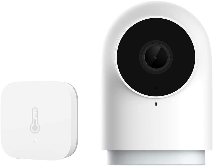 Aqara Temperature and Humidity Sensor plus HomeKit Security Indoor Camera G2H, Night Vision, Two-Way Audio, Family-Friendly Wireless Video Surveillance System, Smart Home Bridge for Alarm System