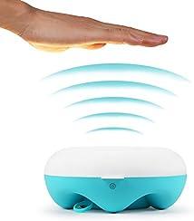 HAMSWAN Lámpara Nocturna Sensor Inalambrico con Luz Ajustable Reaglo para Cuidar los Ojos de Niños/Bebé/Adultos Cuidados Ojos En Matería ABS+PC+Silicona Cargable USB