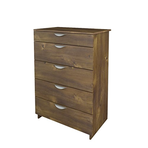 Nocce 5-Drawer Chest 401205 from Nexera, Truffle (Nexera Truffle)