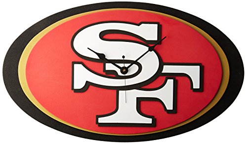 NFL San Francisco 49ers 3D Foam Wall Clock