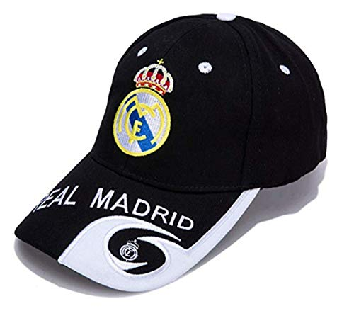 FOOT-ACC Real Madrid Soccer Cap Hat - Embroidered Authentic Caps Black Fans Baseball Cap