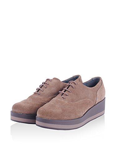 plataforma 8446 piel taupe 53687 ALTO Zapato 5cm Berin SOTO qzXwq7